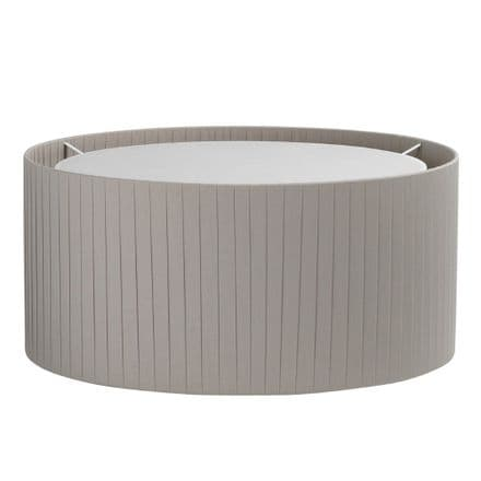 Astro 5016018 Drum 500 Pleated Shade Putty